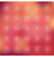 Health Care Circle Medical Line Icons Set vector image