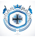 heraldic emblem isolated vector image vector image