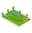 isometric golf course concept vector image