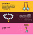 jewelry online shop web banners flat vector image vector image