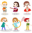 kids hobby vector image vector image