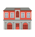 mansion with columns vector image