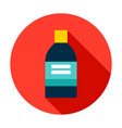 medical bottle circle icon vector image vector image