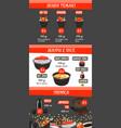 menu for japanese sushi food restaurant vector image vector image