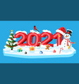 merry christmas and new year holiday greeting card vector image