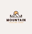 mountain adventure and outdoor vintage logo vector image