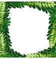 nature leaf branch border vector image vector image