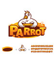parrot mascot template vector image vector image