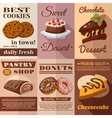Pastry Poster Set vector image vector image