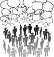 people company group talk network social media vector image vector image