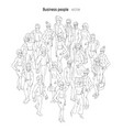 people crowd sketch outline black and white style vector image vector image