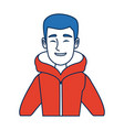 portrait young man wearing winter clothes vector image vector image