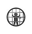 prisoner in the prison vector image vector image