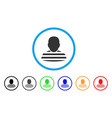 prisoner person rounded icon vector image vector image