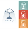 Reading-lamp vector image vector image