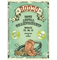 Retro style rodeo poster vector image vector image