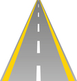 road with yellow and white line vector image vector image