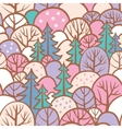 seamless tree pattern with forest vector image vector image