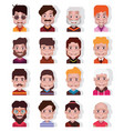 set 16 avatar icons isolated on white 01 vector image