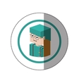 sticker lego with portrait female nurse vector image vector image