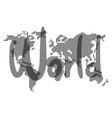 sticker world vector image