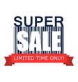 Super sale on barcode icon vector image vector image