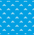 tailor service pattern seamless blue vector image vector image