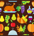 thanksgiving day flat seamless pattern vector image