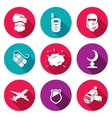 Threat to life Icons Set vector image vector image