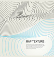 topographical terrain map with line contours vector image