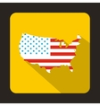 USA map icon flat style vector image vector image