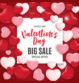 valentines day love and feelings sale background vector image vector image