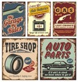 vintage car signs vector image vector image
