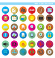 web icons shadow low vector image vector image