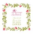 Wedding flower frame