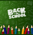 welcome back to school background with doodle vector image vector image