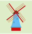 windmill tourism travel design famous building and vector image