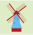 windmill tourism travel design famous building vector image