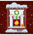 window cold outside vector image