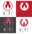 wine workshop negative space concept with wrench vector image vector image
