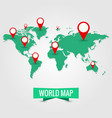 world map travel journey trip vector image vector image