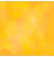 Yellow abstract circle lights bokeh background vector image