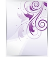 Abstract floral background for design with swirls vector image vector image