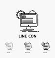 account profile report edit update icon in thin vector image vector image