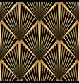 art deco pattern gold black background vector image vector image