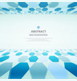 art of blue molecules abstract background for vector image vector image