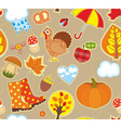 Autumn Seamless Background vector image vector image
