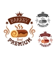 Bakery emblem with swiss roll cake vector image