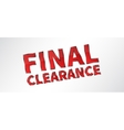 Banner Final Clearance vector image vector image