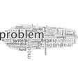 basic problem in a pc vector image vector image